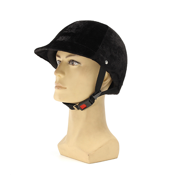 Black Equestrian Knight Helmet Velvet Casque Hat Men Women For Riding Electric Scooter Motorcycle