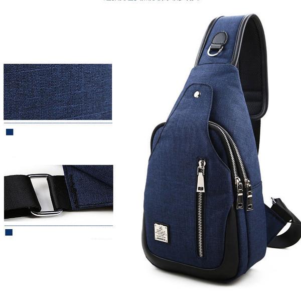 Men Casual Chest Bag Fashion Sling Backpack Crossbody Shoulder Bag