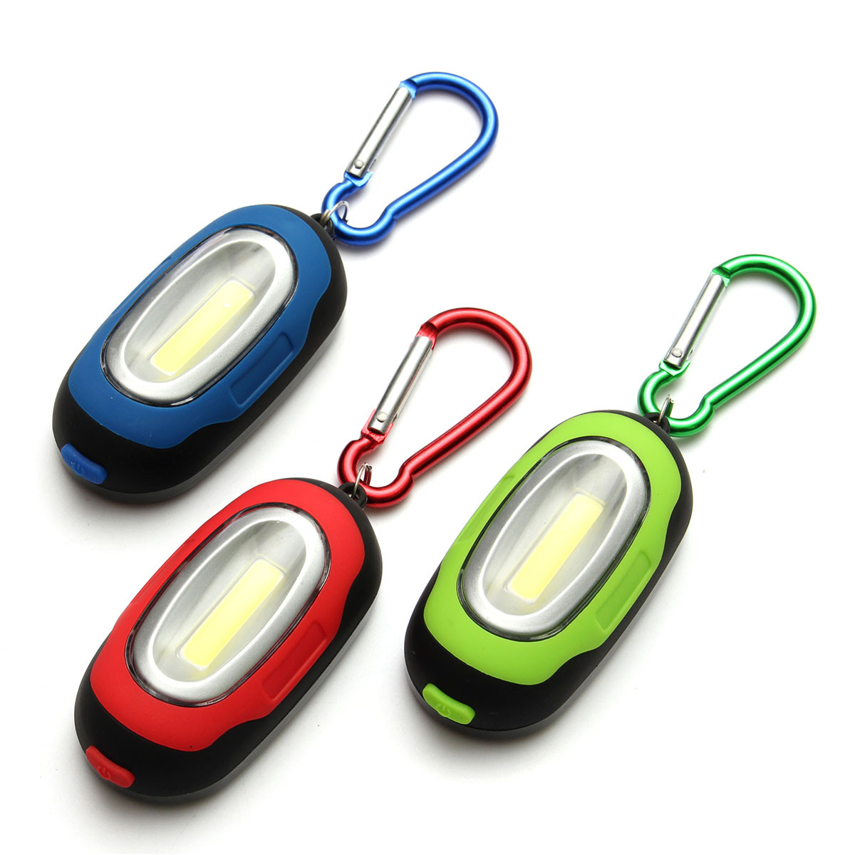 Portable Magnetic Torch COB Camping Lantern LED Key Chain Flashlight