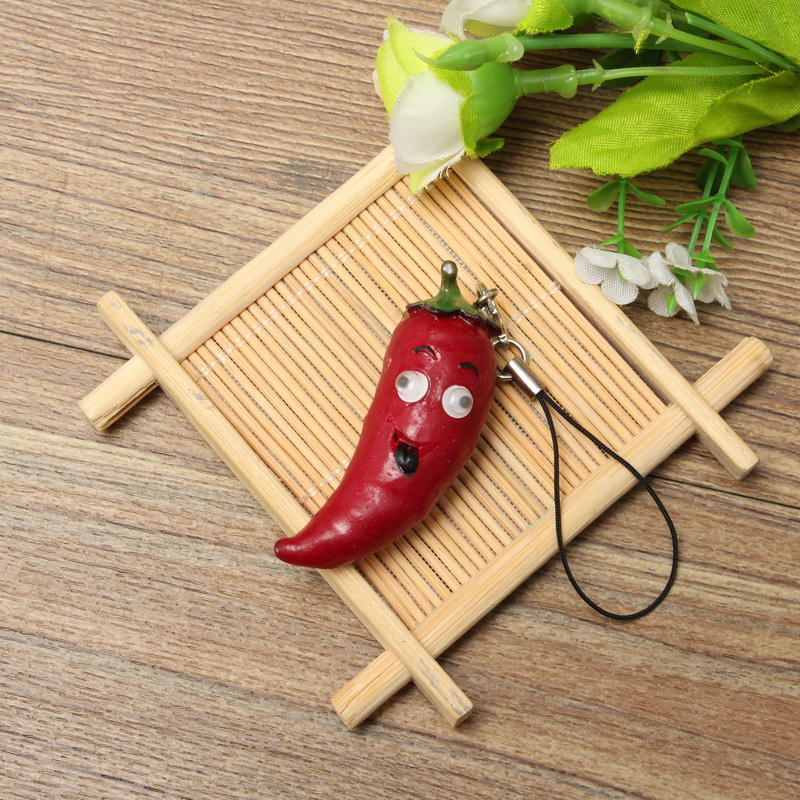 1:12 Simulation Cut Chili Decoration Toy For Mobile phone /Dollhouse Office/Home/Car