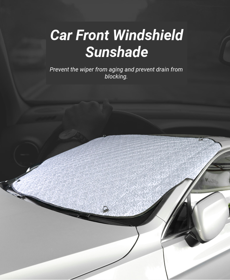 Suction Cup Car Front Windshield Window Sunshade Curtain Aluminum Foil Sun Protection Cover