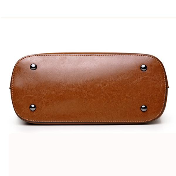 Leather Handbag Pure Color Shoulder Bag Messenger Bag