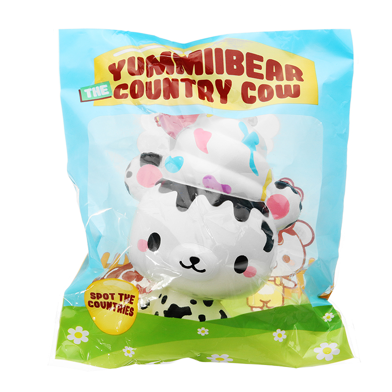 Yummiibear Country Cow Squishy 14cm Licensed Slow Rising With Packaging Collection Gift Soft Toy