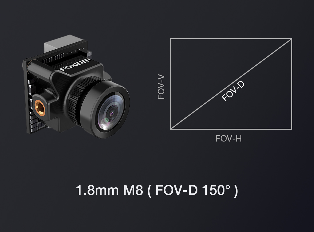 Foxeer Predator Micro V2 1.8mm 1000TVL PAL/NTSC Super WDR FPV Camera w/ OSD for RC Drone