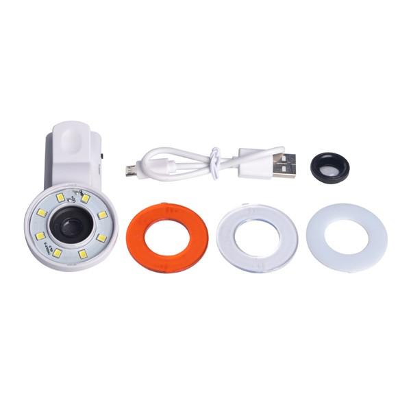 Selfie Fill Light Portable Round Ring Spot Lightt Clip Phone Flash LED Night Flashlight for Smartphone
