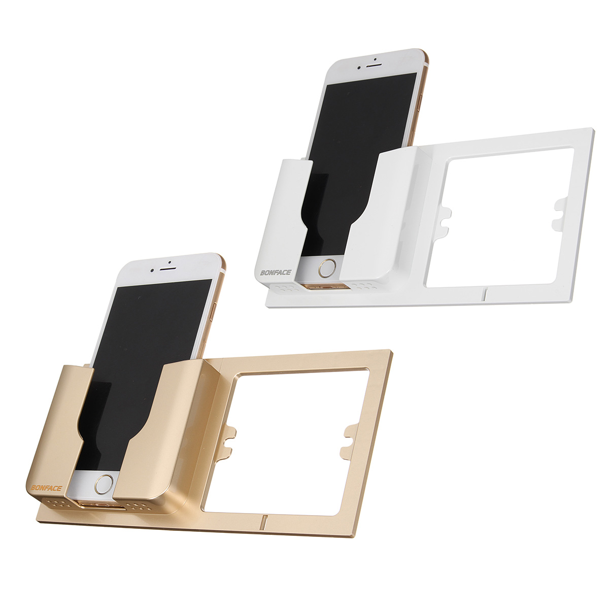 Multifunctional Wall Socket Mobile Phone Stand Wall Charging Holder Bracket for Phone under 6 inches
