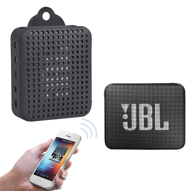 LEORY Portable bluetooth Speaker Silicone Sleeve Case Cover Protective Bag for JBL GO2
