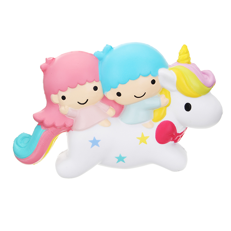 Angie Squishy Little Twin Stars Angel Unicorn Slow Rising Original Packaging Collection Gift Toy
