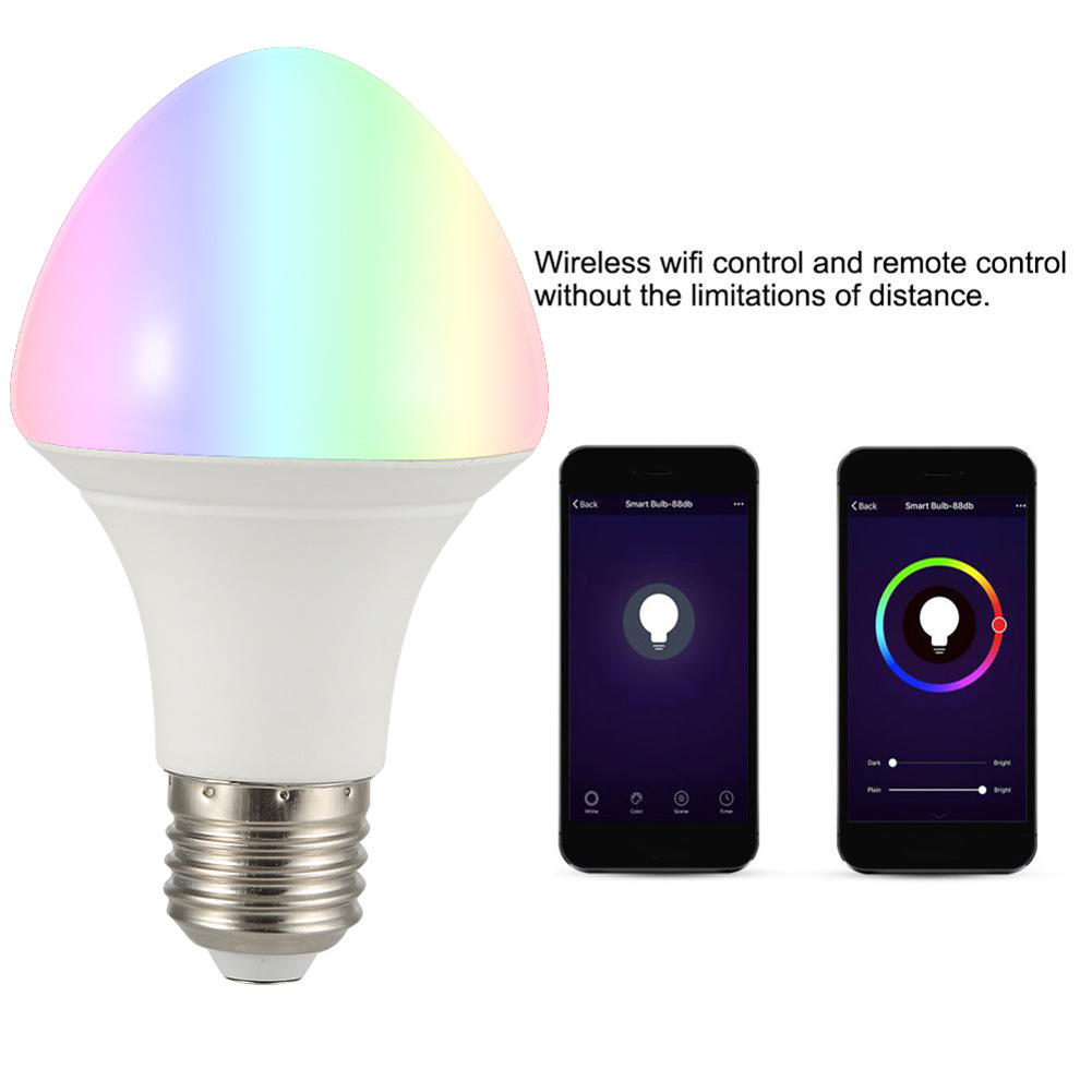 AC100-240V 11W E27 RGBW WiFi Smart LED Light Bulb Work With Amazon Alexa Google Assistant