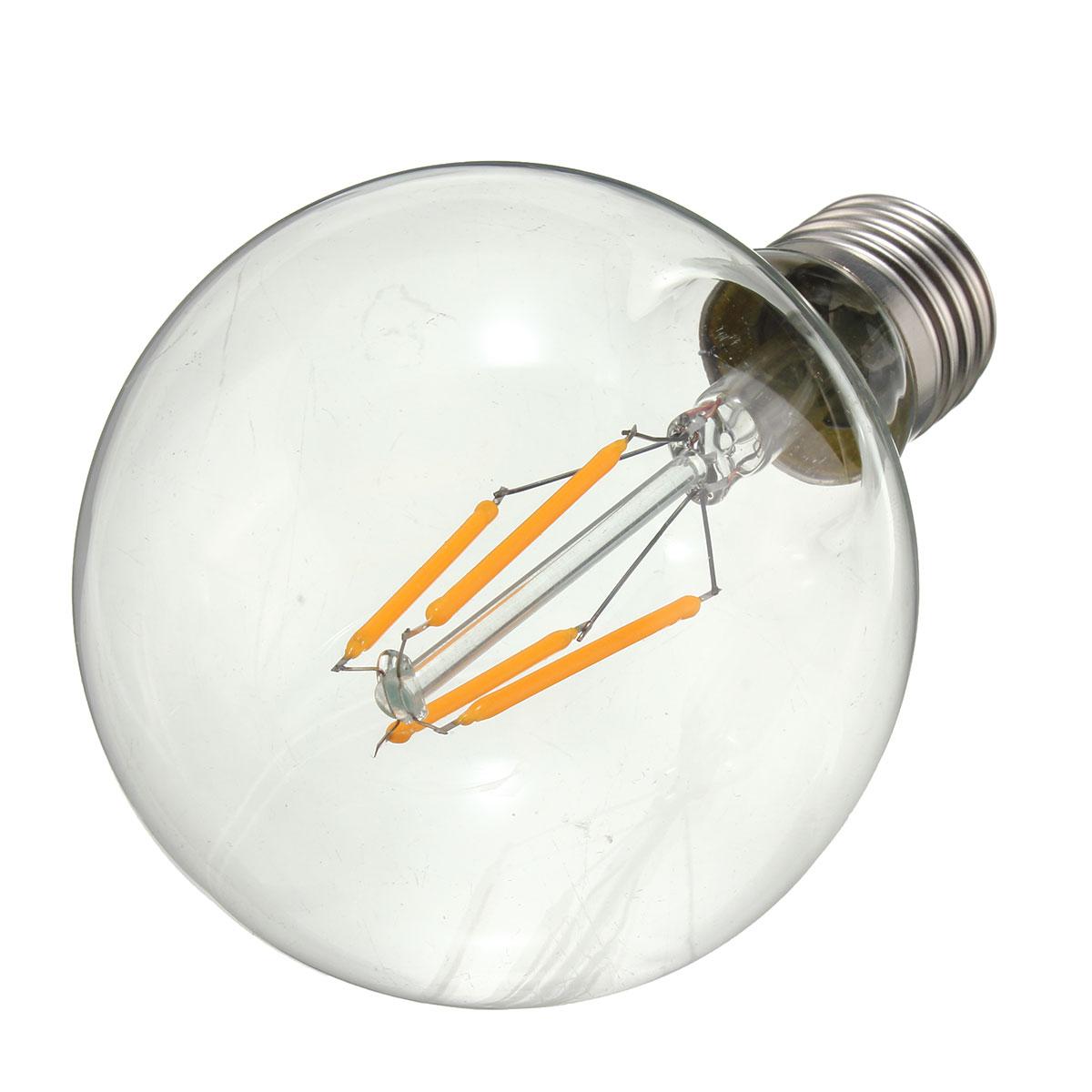 Dimmable G80 E27 4W COB Warm White 400Lumens Incandescent Edison Retro Light Lamp Bulb AC110V AC220V