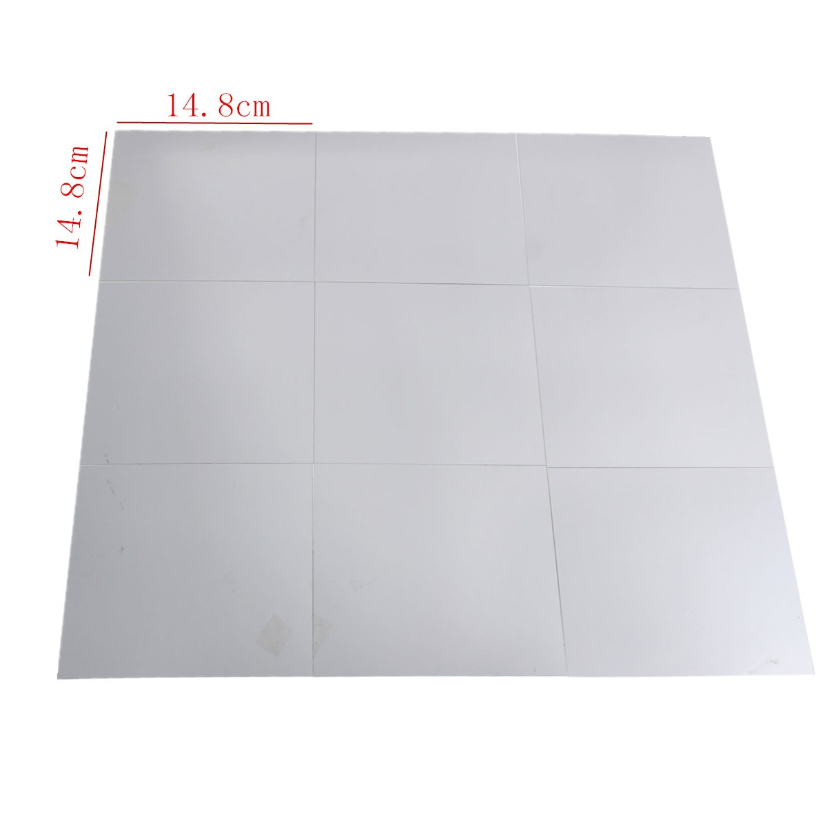 9Pcs 15×15cm Mirror Sheets Square Non Glass Mirrors Tiles Self Adhesive Mirror Wall Sticker