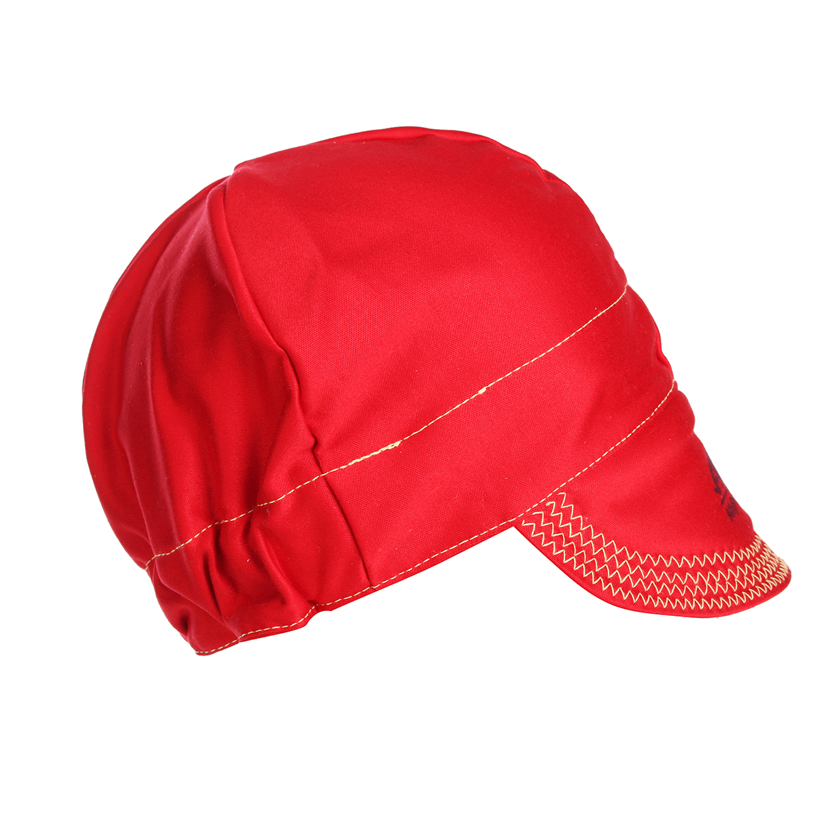 Universal Elastic Welding Flame Retardant Cloth Hat Cap Head Protect -RED