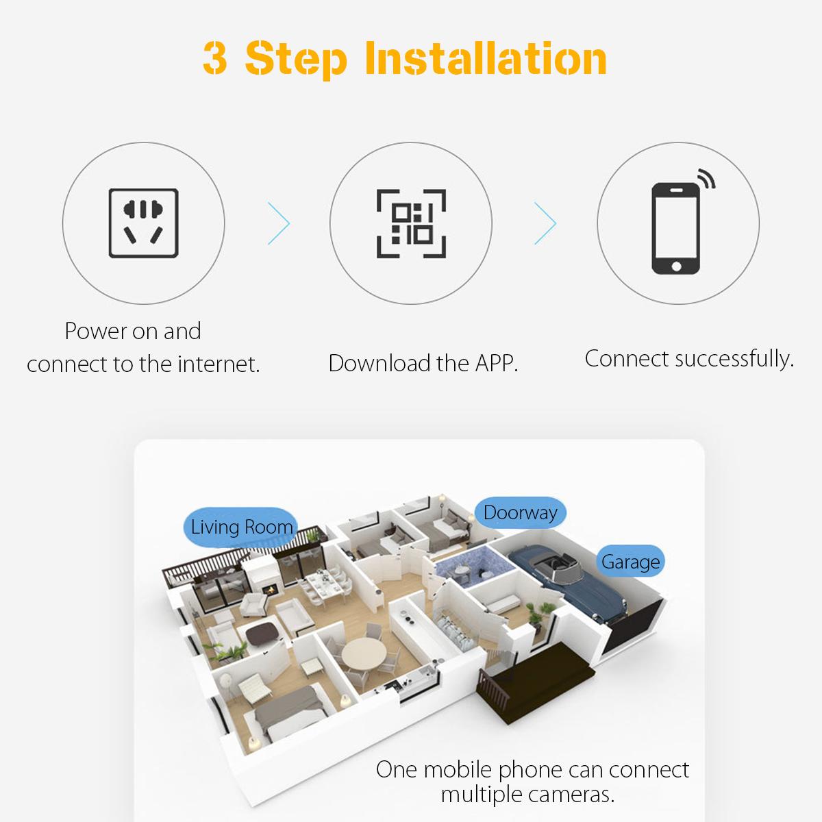 1080P Solar Panel Power Wireless Waterproof PIR HD Camera Security Surveillance CCTV