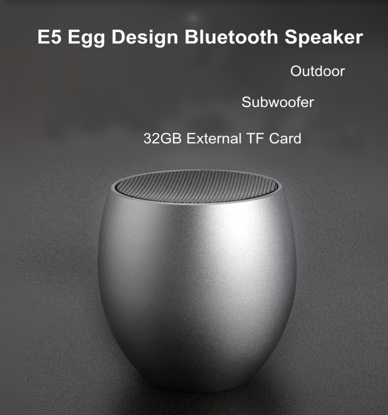 E5 Outdooors Light Weight Egg Design Tf Card Subwoofer bluetooth Speaker with MIC for Xiaomi iPhone