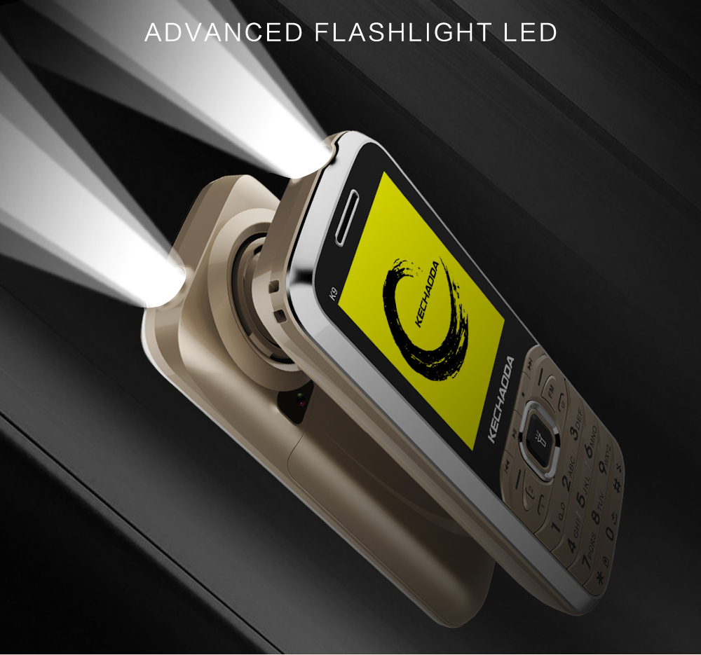 Kechaoda K9 2.4 Inch 1700mAh Big Sound Music Speaker FM Flashlight With Vibration Dual SIM Card Dual Standby Feature Phone