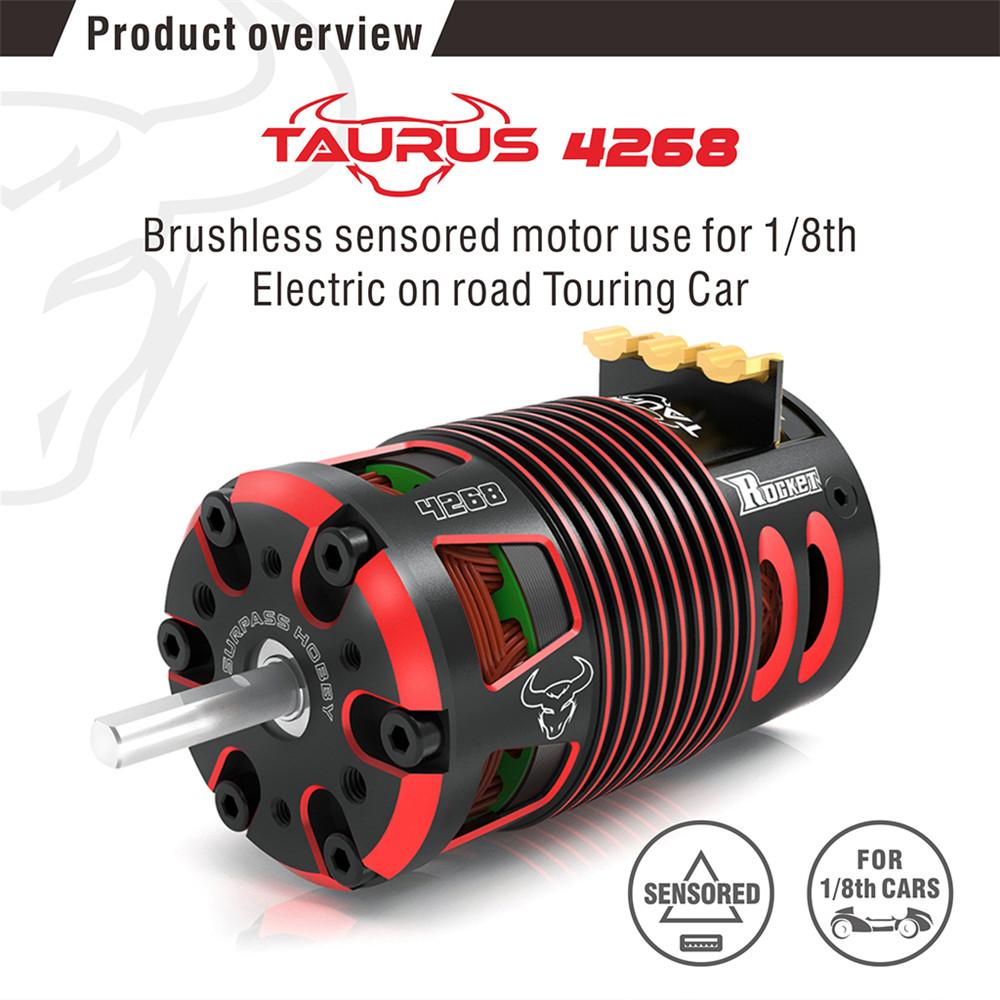 Surpass Hobby 4268 Sensor RC Car Motor For 1/8 Scale Brushless On Road Car