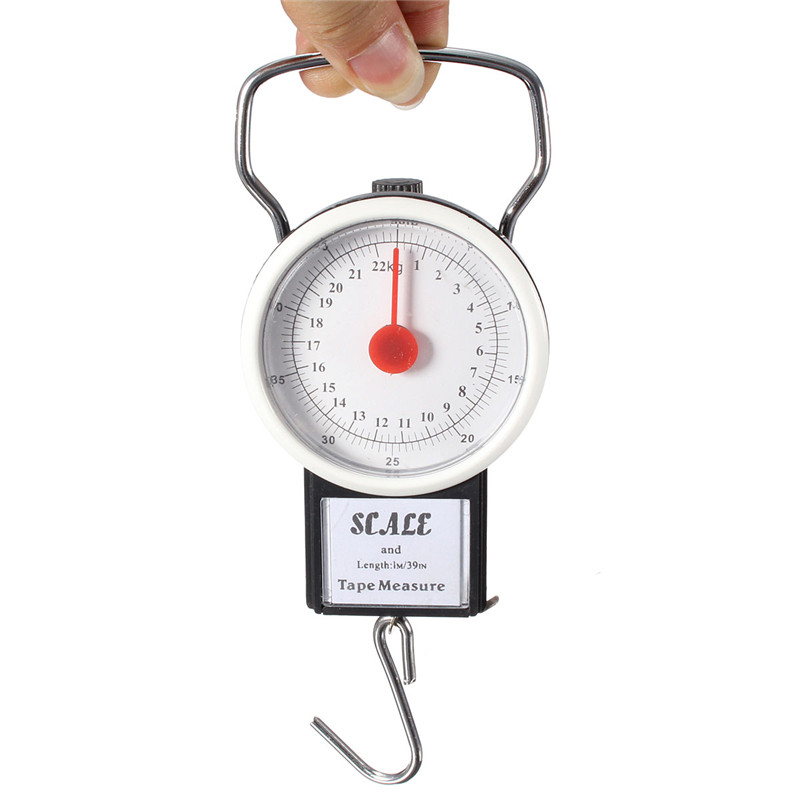 2 in 1 22KG 50LBS Portable Scale Luggage Travel Scale H