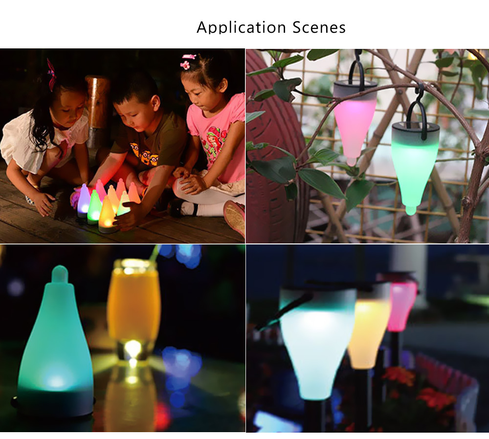 1 Pack Waterproof LED Solar Light for Garden Holiday Solar Lawn Lamp Colors Changing