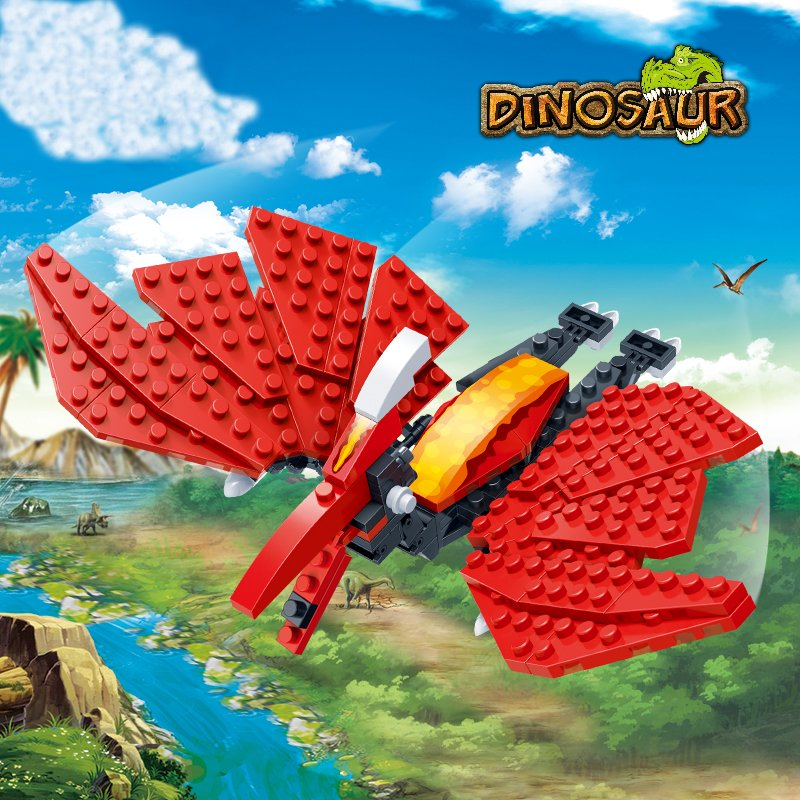 BanBao Pterosaur Jurassic Dinosaur World Park Animal Blocks Toys Building Bricks Model Toys