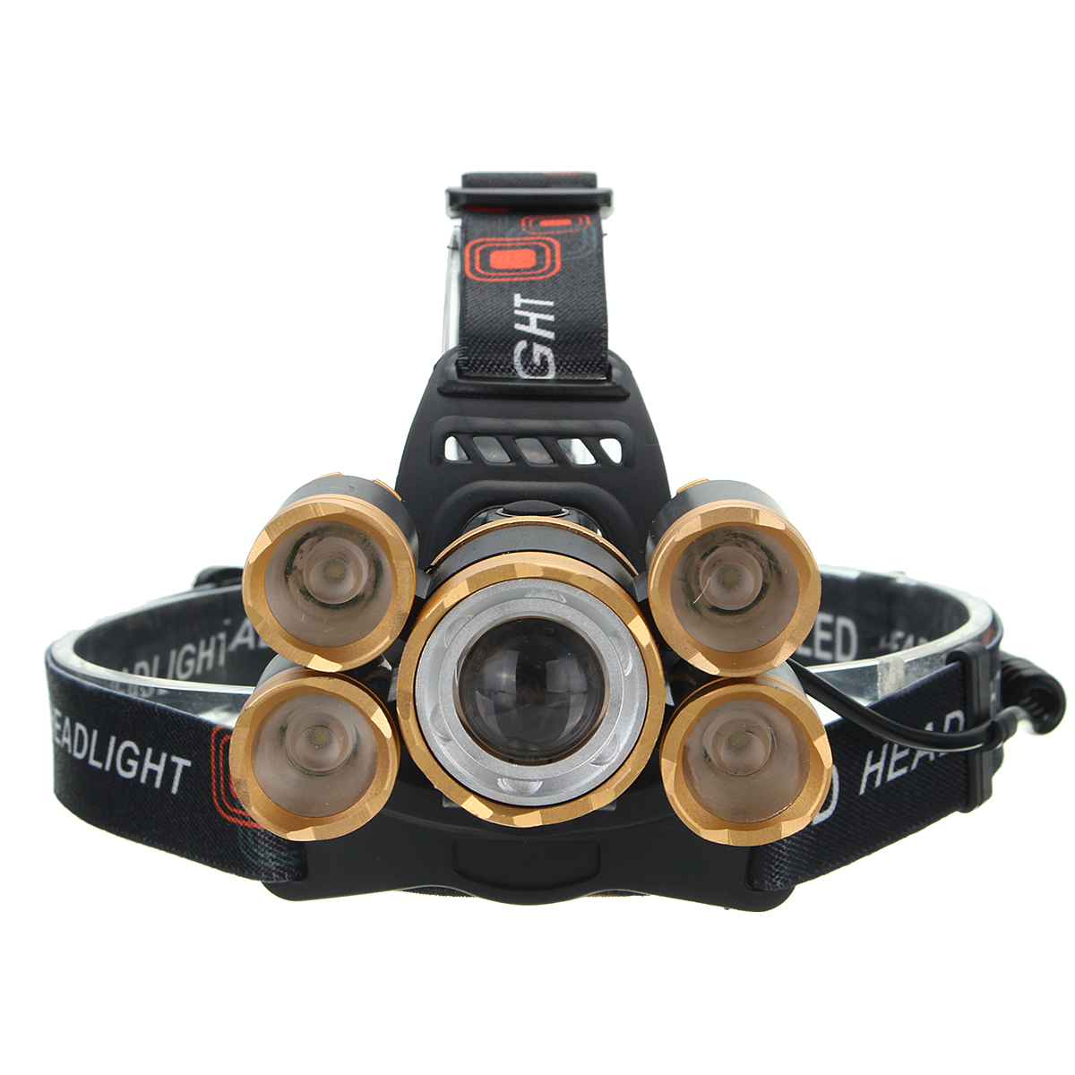 XANES 7310-C 2500 Lumens Bicycle Headlamp 4 Switch Modes T6+ 4 XPE White Light Adjustable
