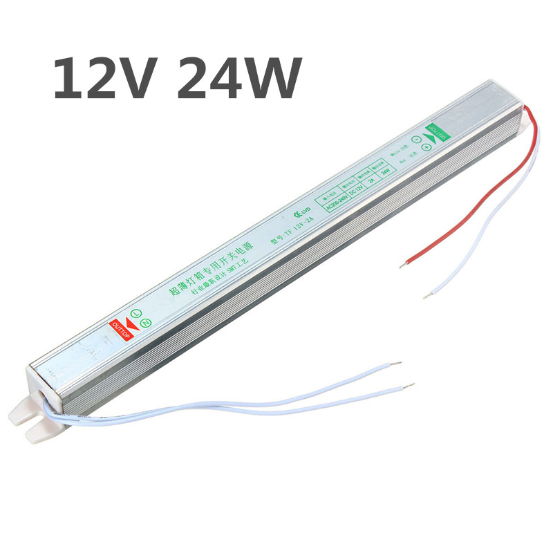IP20 AC200V-264V To DC12V 24W Switching Power Supply Driver Adapter