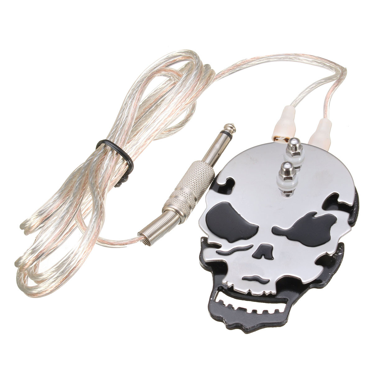 1PC Stainless steel SKULL Tattoo Machine Foot Pedal Swi