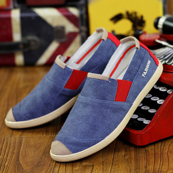 Men Casual Outdoor Slip On Canvas Comfortable Flats Loafers Shoes
