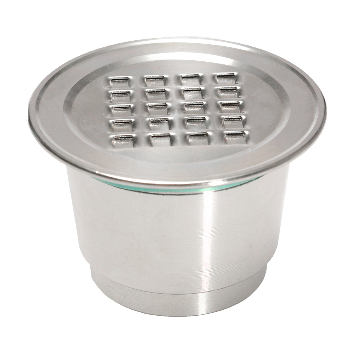 Upgraded Stainless Steel Reusable Refillable Coffee Capsule Cup With CM Lids For Nespresso Machine