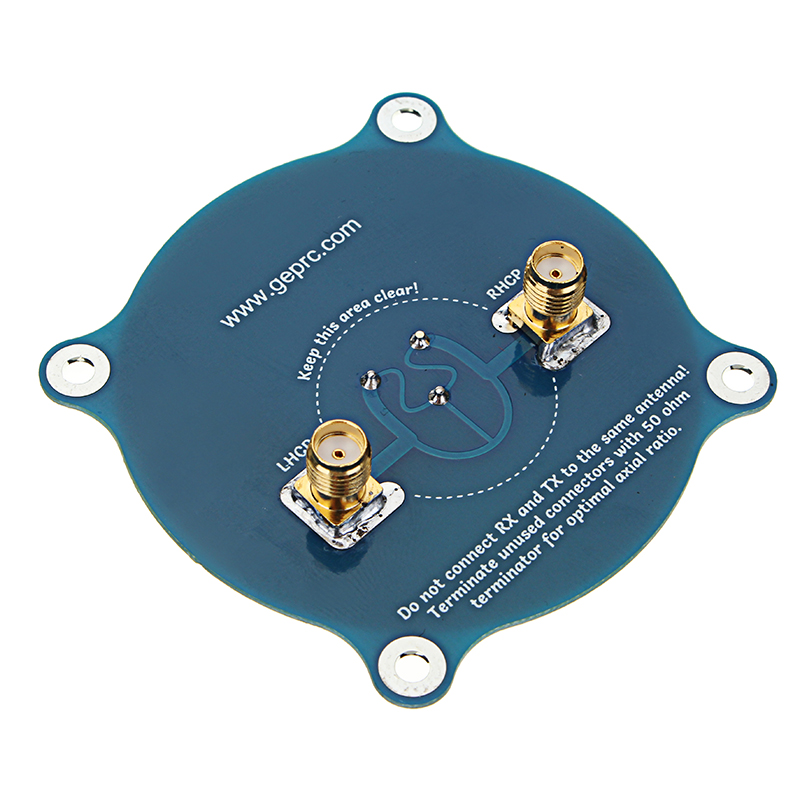 GEPRC Triple Feed Patch-1 5.8G 9.4dBi FPV Reveiver Antenna For LHCP RHCP SMA RC Drone