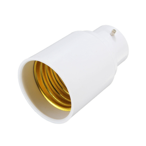 B22 to E27 Screw Socket LED Halogen Light Bulb Lamp Holder Converter Adapter