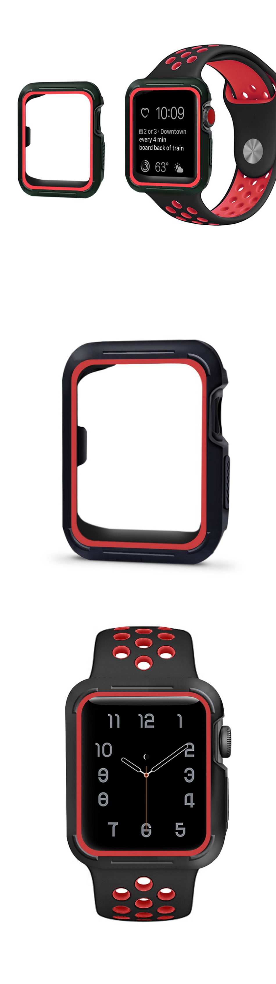 KALOAD Silicone 40/44mm Protective Case Watch Cover Shell Screen Protector For Apple iWatch 4
