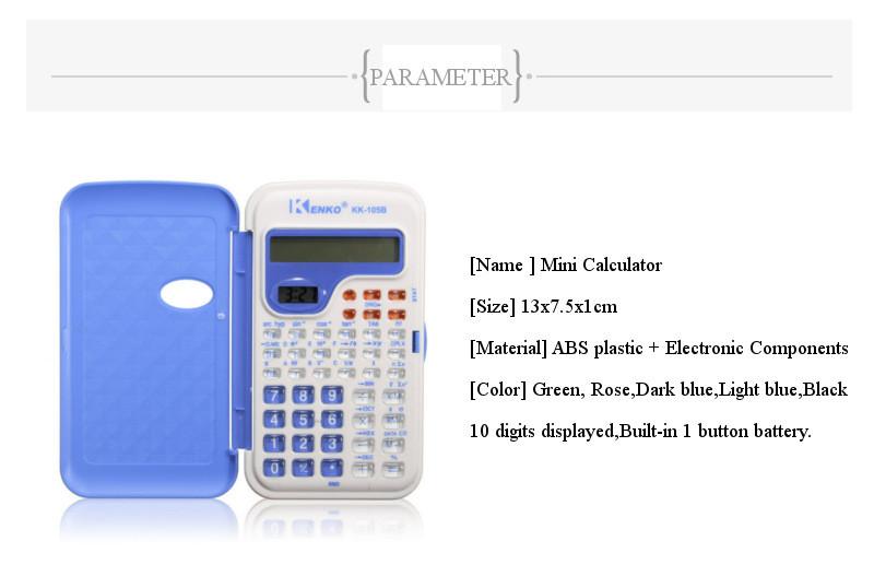 Candy Color Office Mini Scientific Calculator School Student Function Calculator Multifunctional Clock Calculator