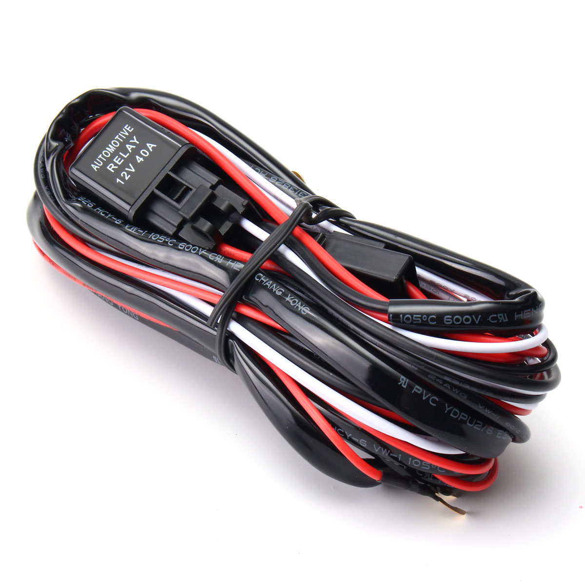 LED light Bar Wiring Harness Kit Fuse 40A Relay On-off Switch 2.5M Length