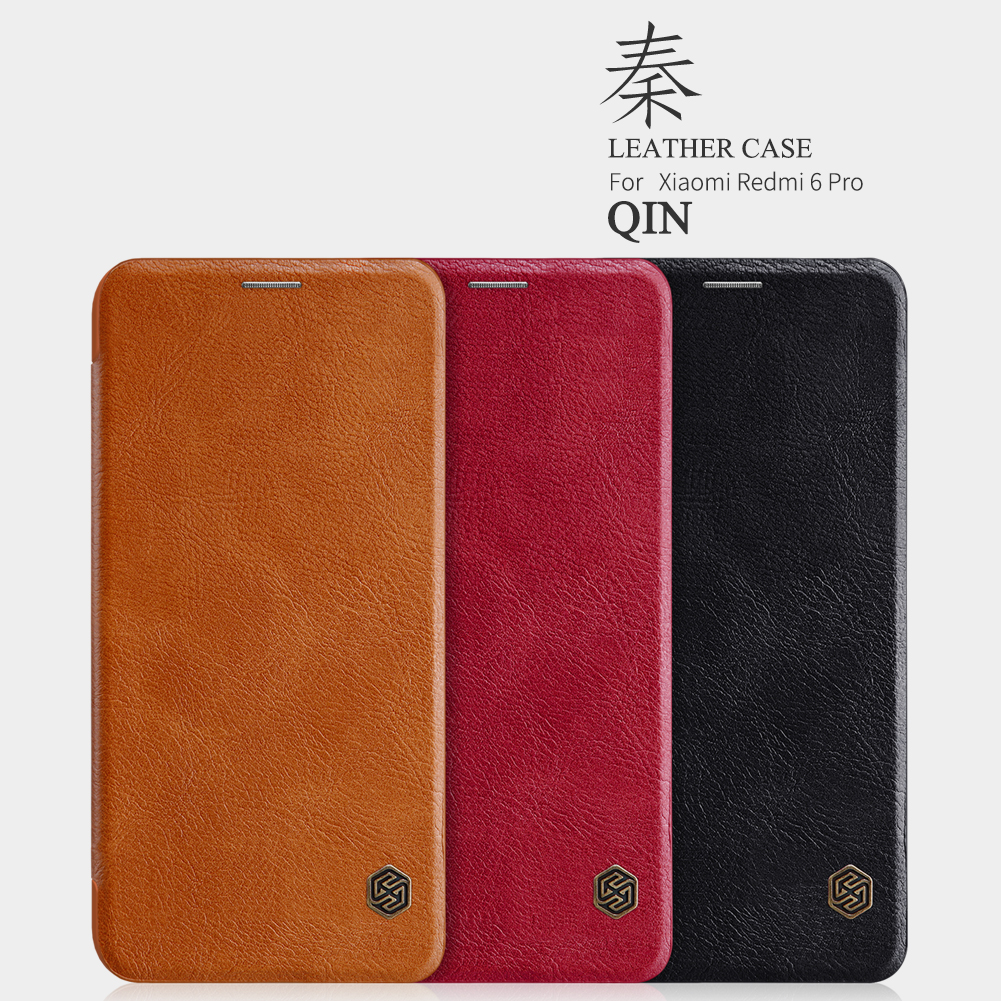 NILLKIN Flip Shockproof Smart Sleep Leather Protective Case For Xiaomi Mi A2 Lite/Xiaomi Redmi 6 Pro
