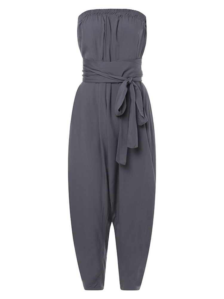 Plus Size Women Casual Multi Style Maxi Boho Jumpsuit Pants