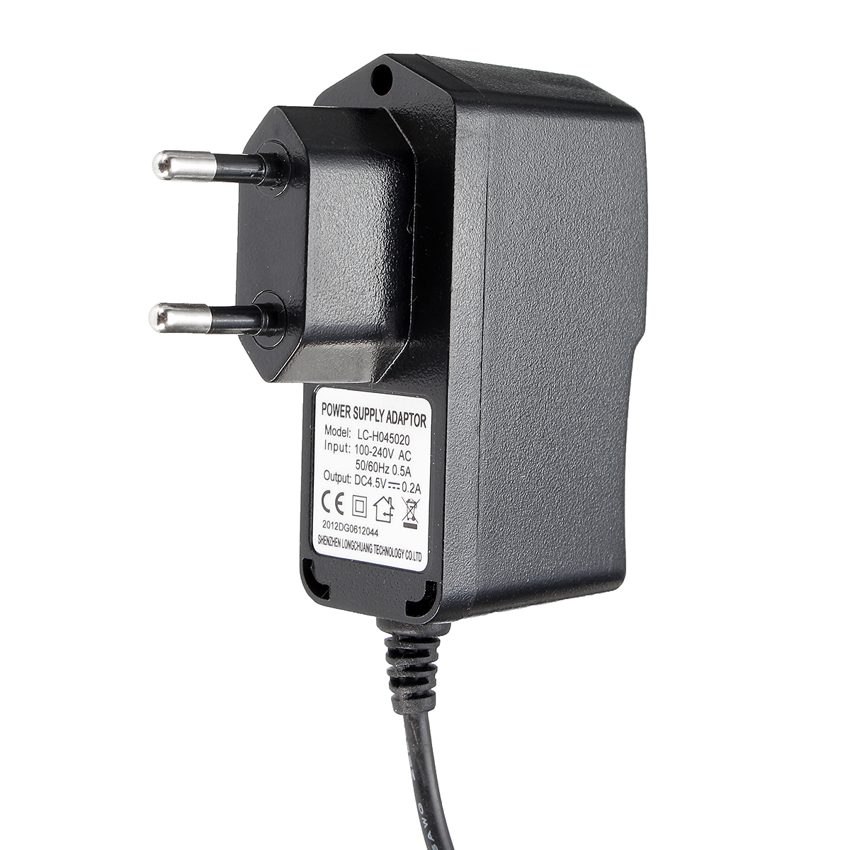 AC 100 V-240V DC 4.5V 0.2A Adapter US/EU Plug Power Supply Charger For Wireless Weather Station Clock