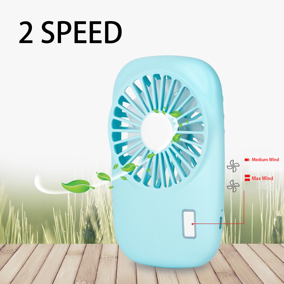 Mini Portable Fan Handheld Air Cooling Fan Summer Cooler Fan Lithium Battery USB Rechargable Fan