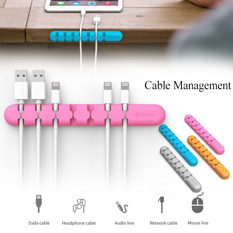 ORICO CBS7 Cable Holder Desktop Earphone Wire Cable Management Long Cable Clip Cord Organizer