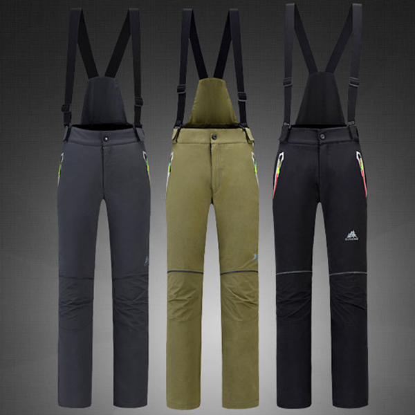 Two Pieces Set Detachable Outdoor Skiing Pants Warm Pants