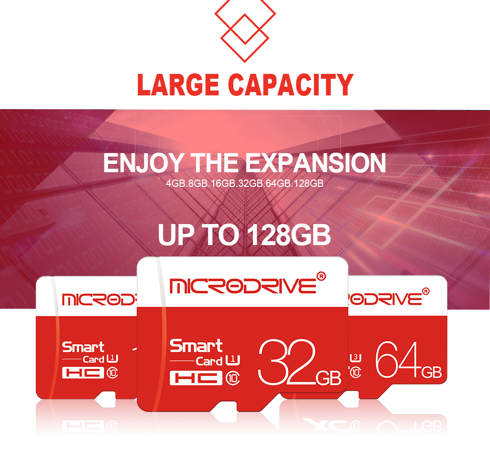 MicroDrive 8GB 16GB 32GB 64GB 128GB Class 10 High Speed TF Memory Card With Card Adapter For Mobile Phone iPhone Samsung Huawei Xiaomi