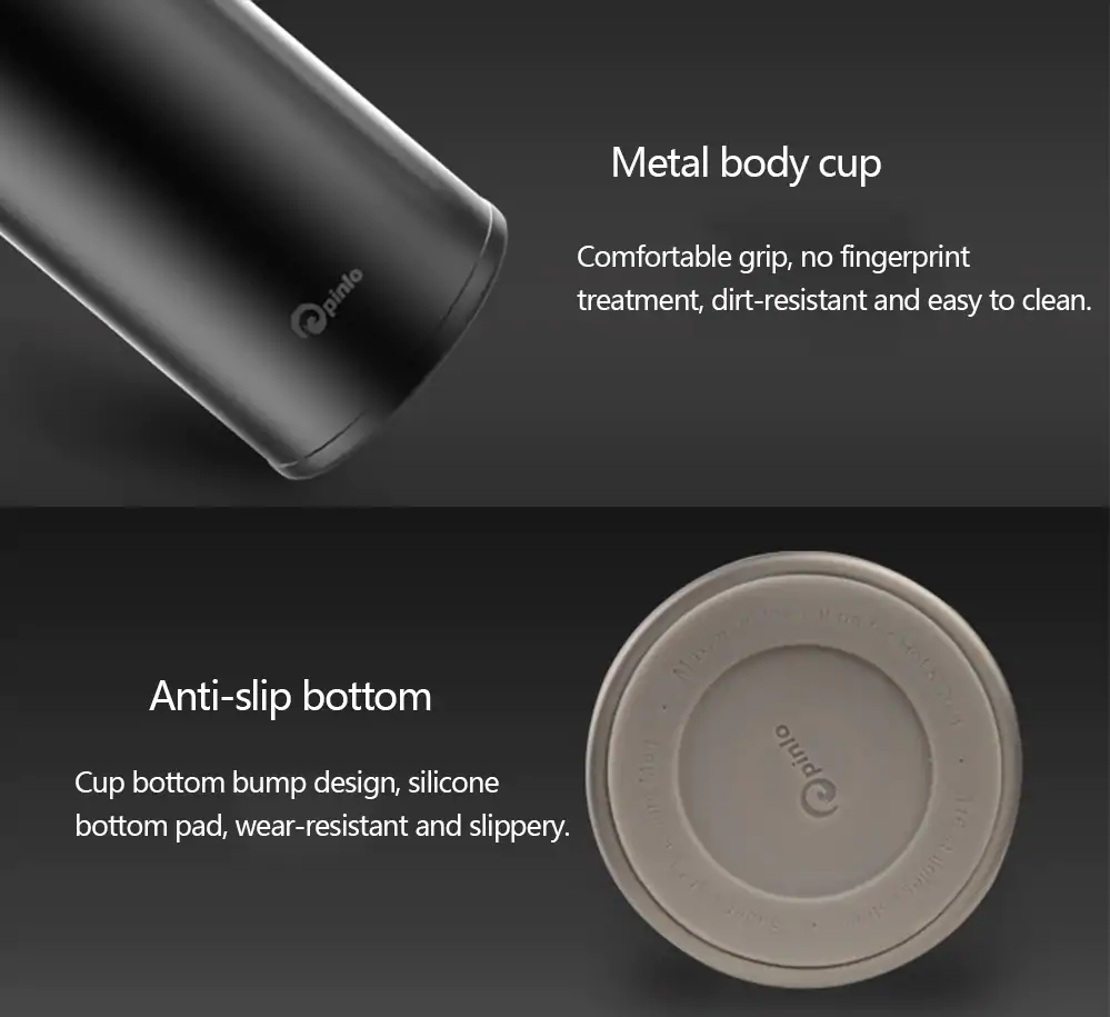 XIAOMI Mija Pinlo Vacuum Insulation Cup Water Bottle Pro 480ML Stainless Steel Thermos Cup