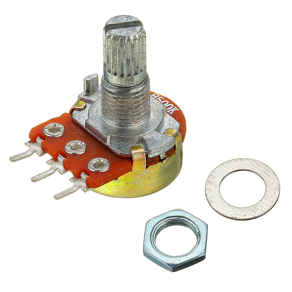 5pcs 200V 0.2W 500K Ohm Potentiometer Single Linear