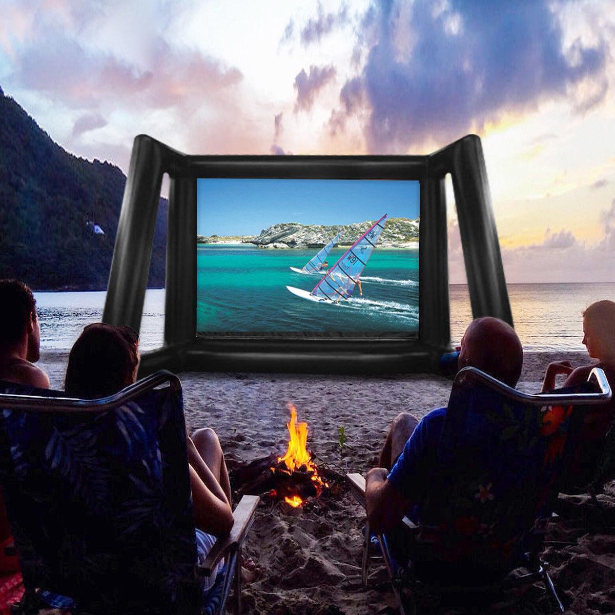 8x6m 26ftx20ft 16: 9 Aufblasbare Projektion Film Display Home Backyard Theater