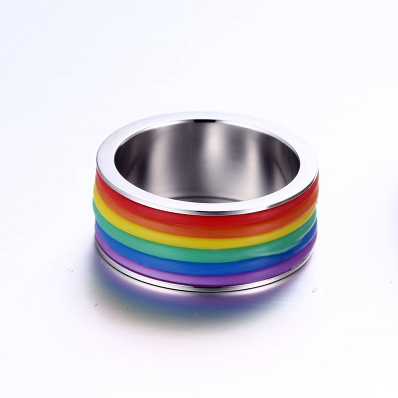 Fashion Stainless Steel Finger Ring Unisex Jewelry
