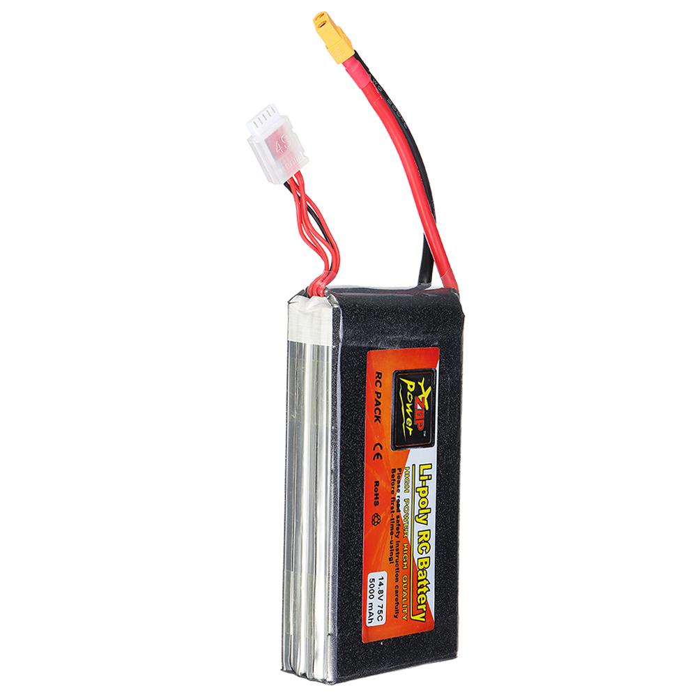 ZOP Power 14.8V 5000mah 75C 4S Lipo Battery XT60 Plug For RC Quadcopter