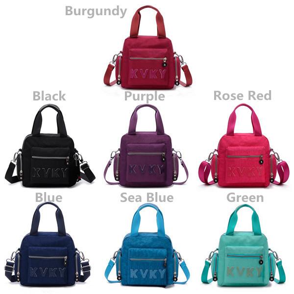Women Nylon Light Tote Bags Ladies Casual Waterproof Shoulder Bags Outdoor Crossbody Bags Backpack