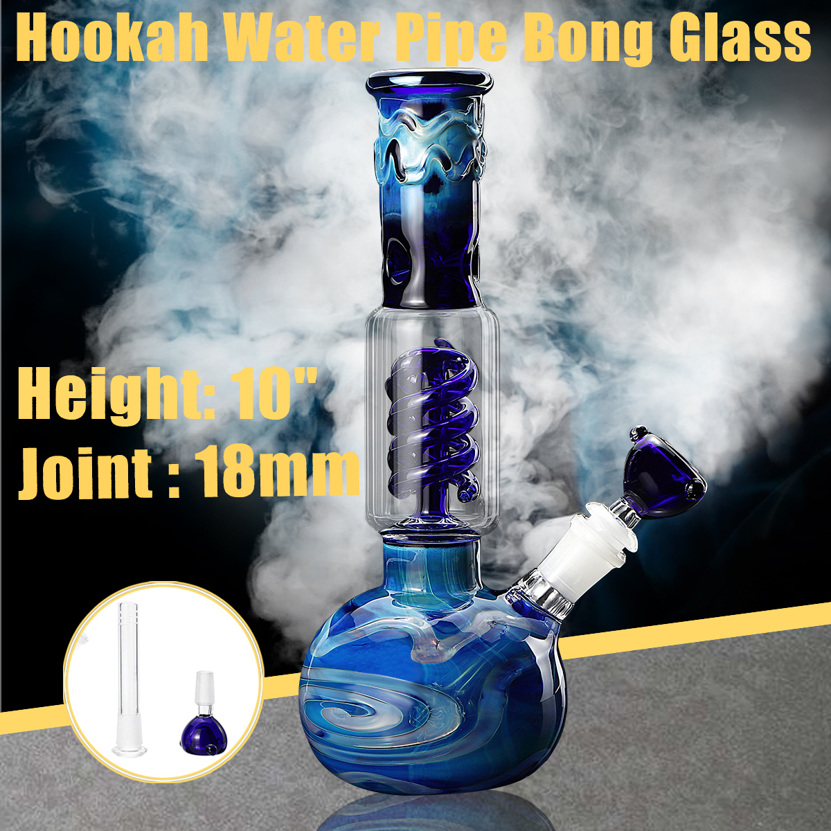 10.7 Inch Glass Bong Bubbler Water Pipe Hookah Beaker Ice Catcher Filter Bongs Water Oil Rig Pipe