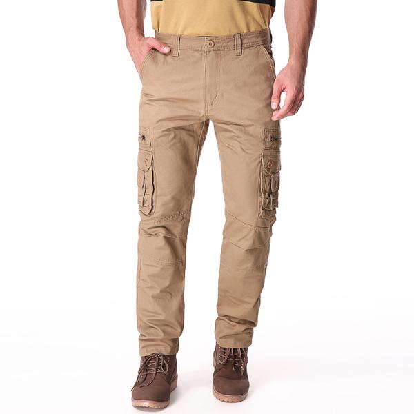 Случайные сплошной цвет мода мульти карманы длинные брюки