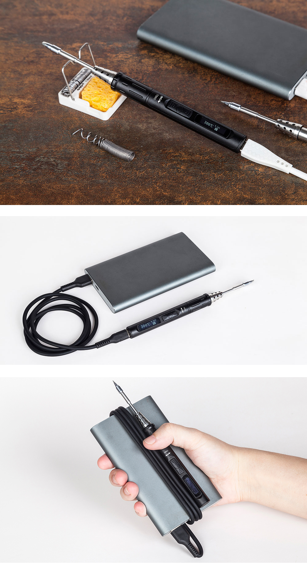 MINI TS80 Digital OLED USB Type-C Programable Soldering Iron Station Solder Tool Built-in STM32 Chip