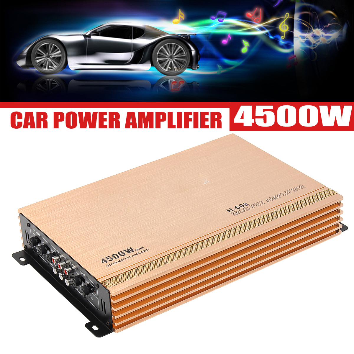 4500W Car Audio Power Stereo Amplifier Amp 4CH 4 Channel Bass Subwoofer DC 12V